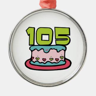 Bolo de aniversário das pessoas de 105 anos enfeite para arvore de natal