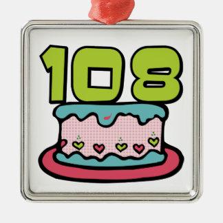 Bolo de aniversário das pessoas de 108 anos enfeites de natal