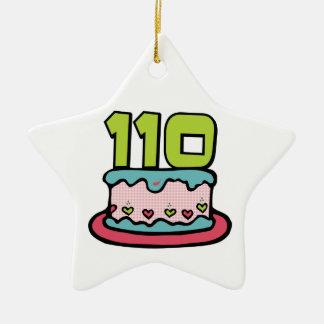 Bolo de aniversário das pessoas de 110 anos ornamento para arvore de natal