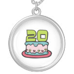 Bolo de aniversário das pessoas de 20 anos colares personalizados