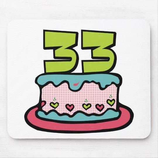Bolo de aniversário das pessoas de 33 anos mouse pad