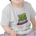 Bolo de aniversário das pessoas de 36 anos camisetas