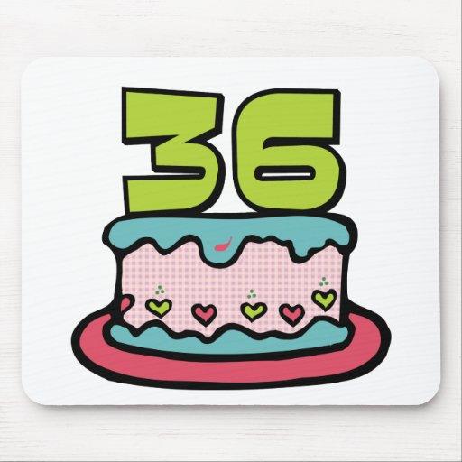 Bolo de aniversário das pessoas de 36 anos mousepad