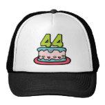 Bolo de aniversário das pessoas de 44 anos boné