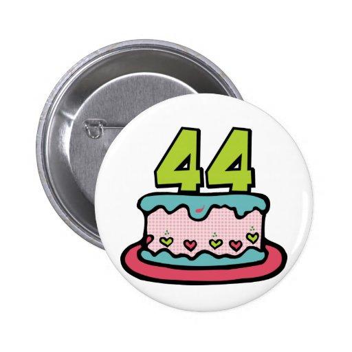 Bolo de aniversário das pessoas de 44 anos bóton redondo 5.08cm