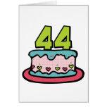 Bolo de aniversário das pessoas de 44 anos cartoes