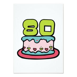 Bolo de aniversário das pessoas de 80 anos convites