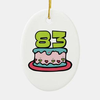 Bolo de aniversário das pessoas de 83 anos ornamento para arvore de natal