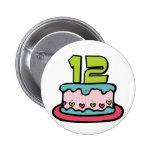 Bolo de aniversário do adolescente de 12 anos botons