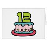 Bolo de aniversário do adolescente de 12 anos cartoes