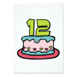 Bolo de aniversário do adolescente de 12 anos convites personalizados