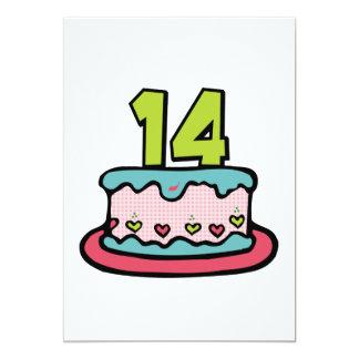 Bolo de aniversário do adolescente de 14 anos convites personalizado