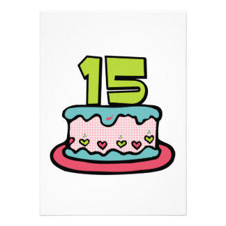 Bolo de aniversário do adolescente de 15 anos convites personalizado
