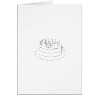 Bolo de aniversário - estilo arquitectónico esboça cartões