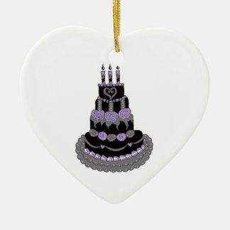 Bolo de aniversário roxo gótico ornamento