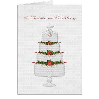 Bolo de casamento do feriado, Natal que Wedding Cartão