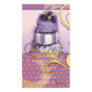 Bolo de casamento do Lilac/lavanda/padaria/pâtisse Modelo De Cartões De Visita