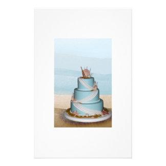 Bolo de casamento elegante de Shell do mar Panfleto Personalizado