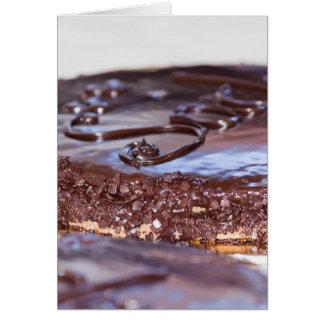 bolo de chocolate cartão comemorativo