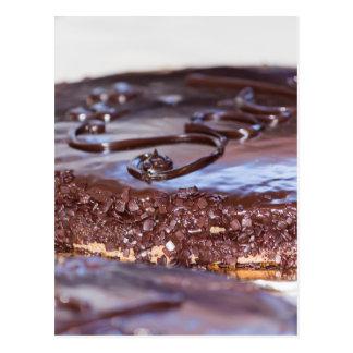 bolo de chocolate cartão postal