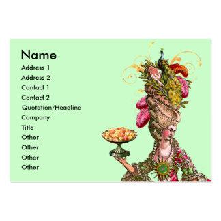 Bolo de Marie Antoinette & cartão de visita do pav