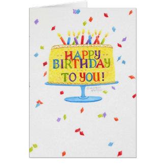 Bolo do cartão do aniversário feliz aniversário