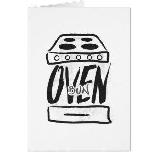 Bolo no forno - cartão do anúncio da gravidez