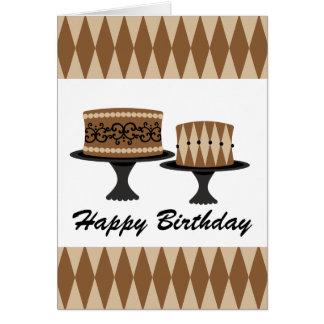 Bolos de chocolate decadentes cartão comemorativo