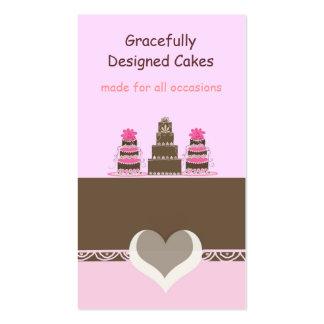 Bolos do desenhista do rosa e do chocolate cartão de visita