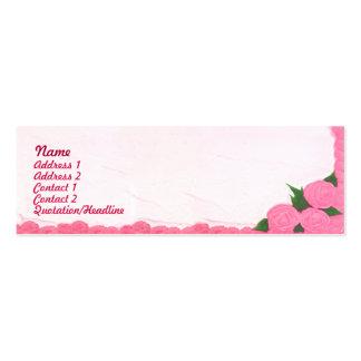 Bolos - magros cartão de visita skinny