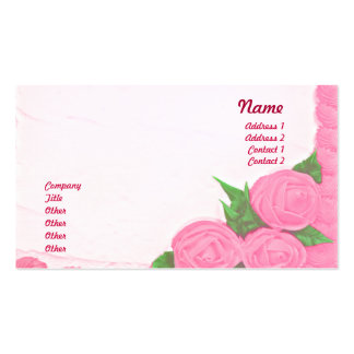 Bolos - negócio cartão de visita