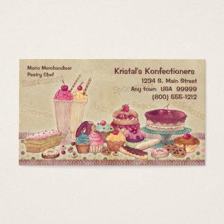 Bolos, tortas, biscoitos, cartão de visita do