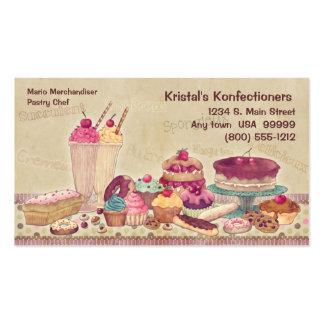Bolos tortas biscoitos cartão de visita do sorv
