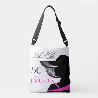 Bolsa Ajustável 50 e aniversário elegante do art deco fabuloso