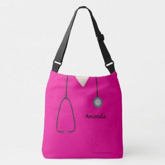 Bolsa Ajustável A enfermeira médica esfrega o rosa quente AOPLCB
