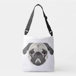 Bolsa Ajustável A ilustração persegue o Pug da cara