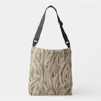 Bolsa Ajustável a madeira embarca o saco crossbody