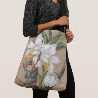 Bolsa Ajustável A orquídea branca botânica floresce a sacola do