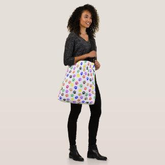 Bolsa Ajustável A pata do arco-íris imprime o saco de PatternTote
