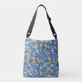 Bolsa Ajustável A pintura azul, amarela e branca espirra 8200