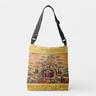 Bolsa Ajustável A porta do céu com uma textura e um Jesus da folha