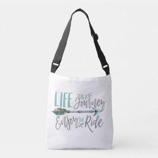 Bolsa Ajustável A vida é uma viagem aprecia o Wanderlust de Boho