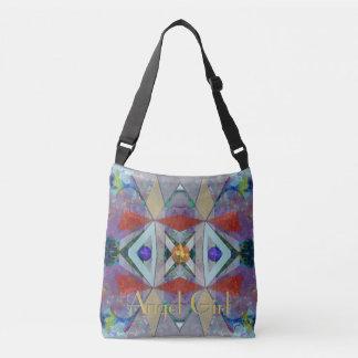 Bolsa Ajustável Abstrato impressionante dos triângulos com seu