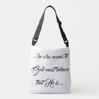 Bolsa Ajustável Acredite que o deus É! Procure o senhor! Empurre a