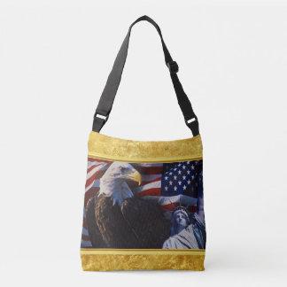 Bolsa Ajustável Águia americana uma estátua da liberdade uma