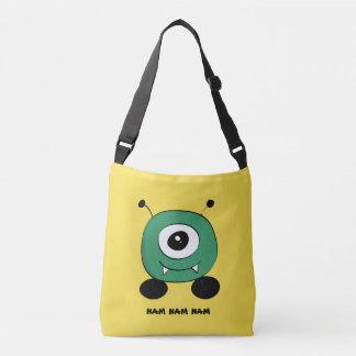 Bolsa Ajustável Alienígena verde engraçada bonito