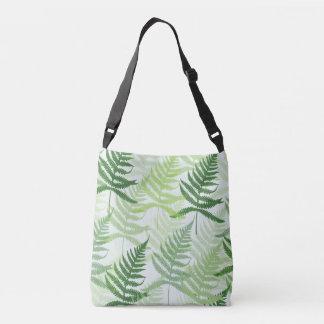 Bolsa Ajustável Allover pressão de folhas verdes de samambaia em