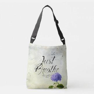Bolsa Ajustável Apenas respire - as flores azuis