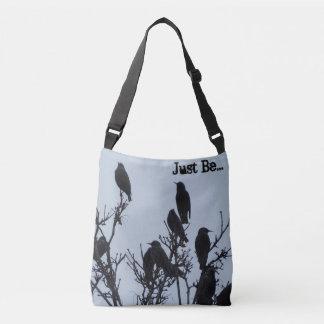 """Bolsa Ajustável """"Apenas seja"""" saco transversal do pássaro do corpo"""