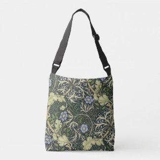 Bolsa Ajustável Arte floral do vintage do teste padrão da alga de